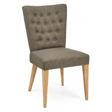 Bentley Designs High Park Upholstered Chair - Black Gold Fabric (Pair)