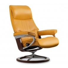 Stressless View Large Recliner Chair With Signature Base (No stool)