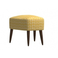 Fama Kylian Footstool With Wooden Base