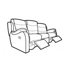 Parker Knoll Michigan 3 Seater Power Recliner Sofa