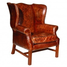 Halo Downing Chair In Biker Tan Leather