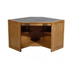 Halo Montana Compact Corner Desk - Light Distressed Oak