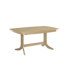 Nathan 2145 Shades Oak Extending Boat Shaped Dining Table on Pedestal