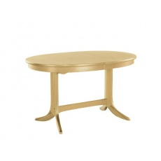 Nathan 2115 Shades Oak Oval Dining Table on Pedestal