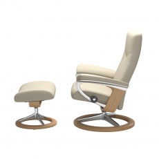 Stressless Dover Small Chair & Stool - Signature Base