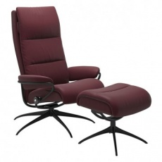 Stressless Tokyo High Back Recliner Chair & Stool - Standard Base