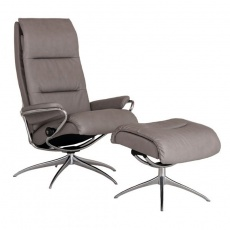 Stressless Tokyo High Back Recliner Chair & Footstool - High Base