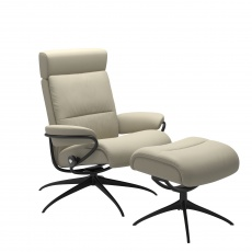 Stressless Tokyo High Back Recliner Chair With Adjustable Headrest & Stool - Standard Base