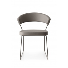 Connubia Calligaris New York Sleigh Leg Chair Skuba : Coloured Frame