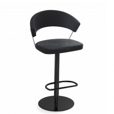 Connubia Calligaris New York Bar Stool Matt Black Frame