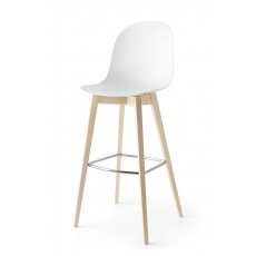 Connubia Calligaris Academy Wood Bar Stool Tall