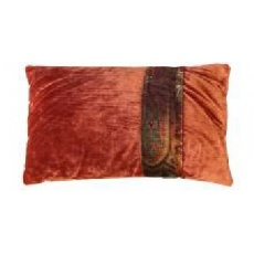 Mulberry Large Rectangular Scatter Cushion with embroidered braid