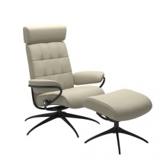 Stressless London with Adjustable Headrest - Standard Base - Chair & Stool