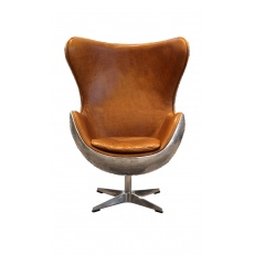 Aviator Keeler Chair - Jet Silver