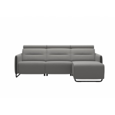 Stressless Emily Power Left 2 Seater Sofa + Long Seat With Steel Legs