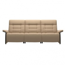 Stressless Mary 3 Seater Sofa With 2 Power Seats - Wood Arm