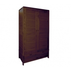 Ercol 1365 Bosco 2 Door Wardrobe - Dark Wood