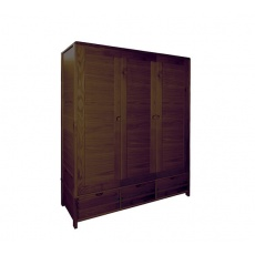 Ercol 1366 Bosco 3 Door Wardrobe - Dark Wood