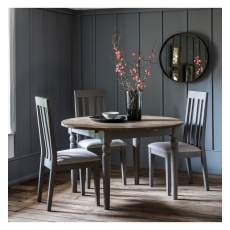 Frank Hudson Cookham Round Extending Dining Table Grey