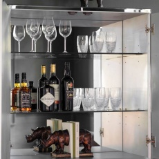 Gallery Pippard Cocktail Cabinet Black