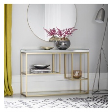 Gallery Pippard Console Table Champagne