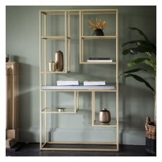Gallery Pippard Open Display Unit Champagne