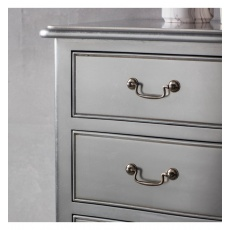 Frank Hudson Chic 5 Drawer Chest Silver