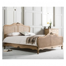 Frank Hudson Chic 6' Cane Superking Bed Weathered