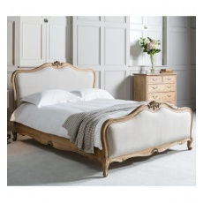 Frank Hudson Chic 6' Upholstered Superking Bed Weathered