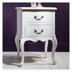 Frank Hudson Chic Bedside Table Vanilla White