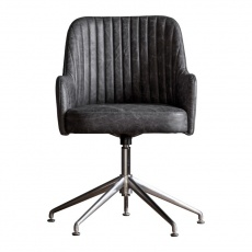 Gallery Curie Swivel Chair Antique Ebony