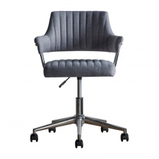 Gallery Mcintyre Swivel Chair Charcoal