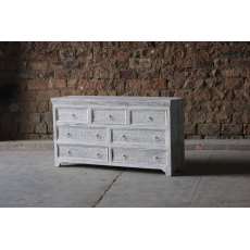 Little Tree Furniture Whiteleaf Reclaimed 7 Drawer Chest