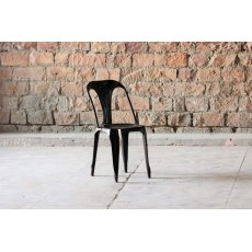 Little Tree Furniture Hyatt Reclaimed Industrial Bakers Cafe Chair (Vintage Black)