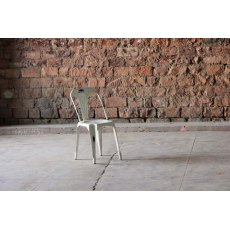 Little Tree Furniture Hyatt Reclaimed Industrial Bakers Cafe Chair (Vintage Off-White)