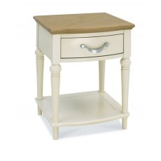 Bentley Designs Montreux Pale Oak & Antique White 1 Drawer Nightstand