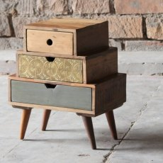 Little Tree Furniture Shimla Reclaimed 3 Multi Drawer Storage Chest