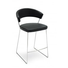 Connubia Calligaris New York Bar Stool Sleigh Base Skuba