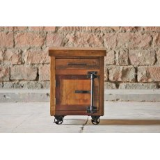 Little Tree Furniture Hyatt Reclaimed Industrial Sidetable On Wheels