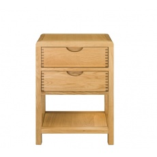 Ercol 1368 Bosco 2 Drawer Bedside Cabinet