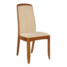 Nathan 3804 Teak Fully Upholstered Dining Chair