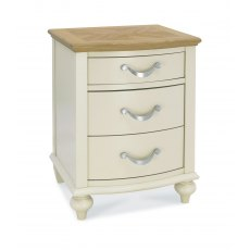 Bentley Designs Montreux Pale Oak & Antique White 3 Drawer Nightstand