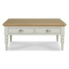 Bentley Designs Hampstead Soft Grey & Pale Oak Coffee Table