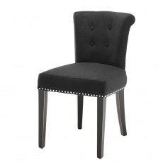 Eichholtz Key Largo Dining Chair Black Cashmere
