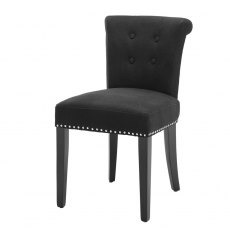 Eichholtz Key Largo Dining Chair Black Linen