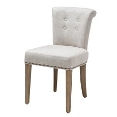 Eichholtz Key Largo Dining Chair Off White Linen