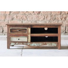 Little Tree Furniture Riya Reclaimed 2 Drawer TV Unit