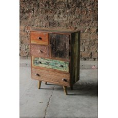 Little Tree Furniture Shimla Eclectic Reclaimed 5 Multi Drawer Storage Chest