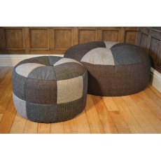 Tetrad Harris Tweed Pumpkin Large Stool