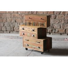Little Tree Furniture Shimla Reclaimed 6 Multi Drawer Storage Chest